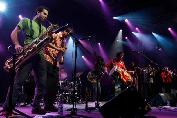 Photo of Red Baraat  performing - Taken by Markku Aberg